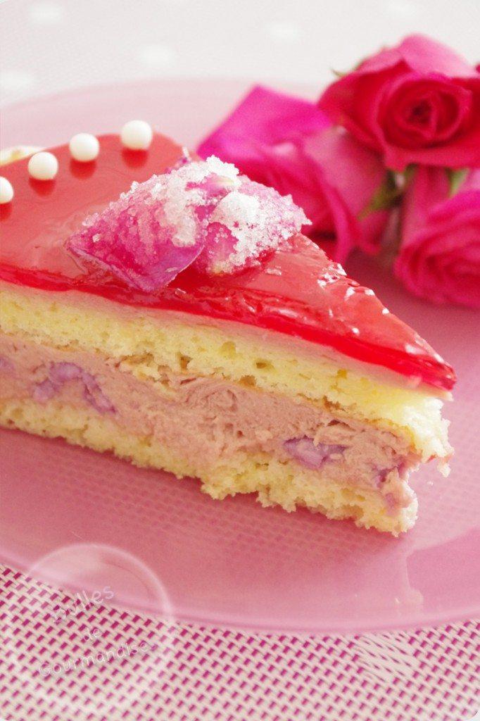 Entremets la framboise aux litchis et la rose for Glacage miroir rose