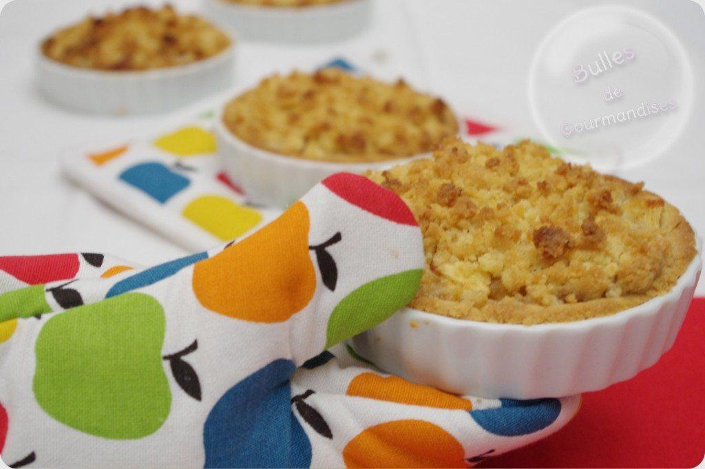 tartelettes crumble aux pommes cannelle et caramel bulles de gourmandises. Black Bedroom Furniture Sets. Home Design Ideas