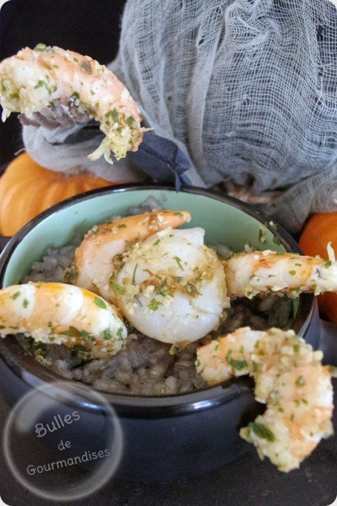 risotto de la mer aux noix de saint jacques et crevettes bulles de gourmandises. Black Bedroom Furniture Sets. Home Design Ideas