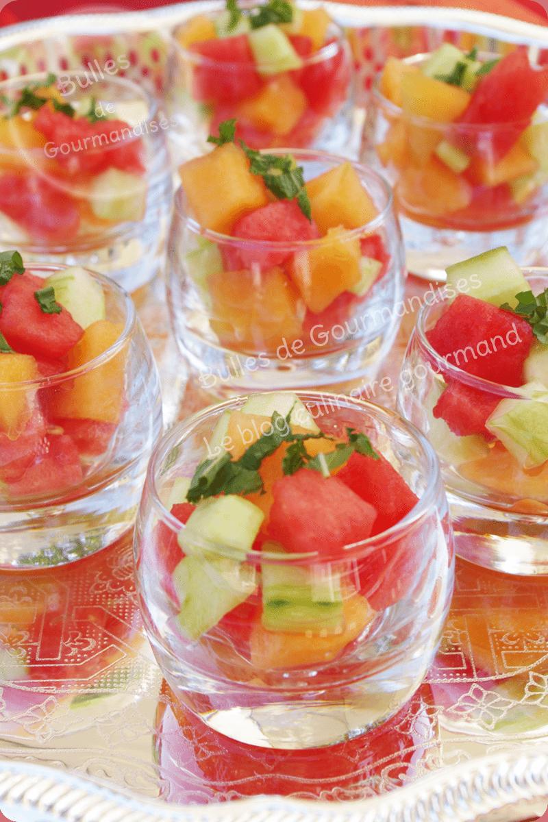 fraîcheur de melon, pastèque, concombre et menthe | bulles de