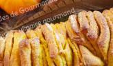 Brioche à effeuiller à la purée de potimarron, orange et épices… Effeuillage tendresse !!!