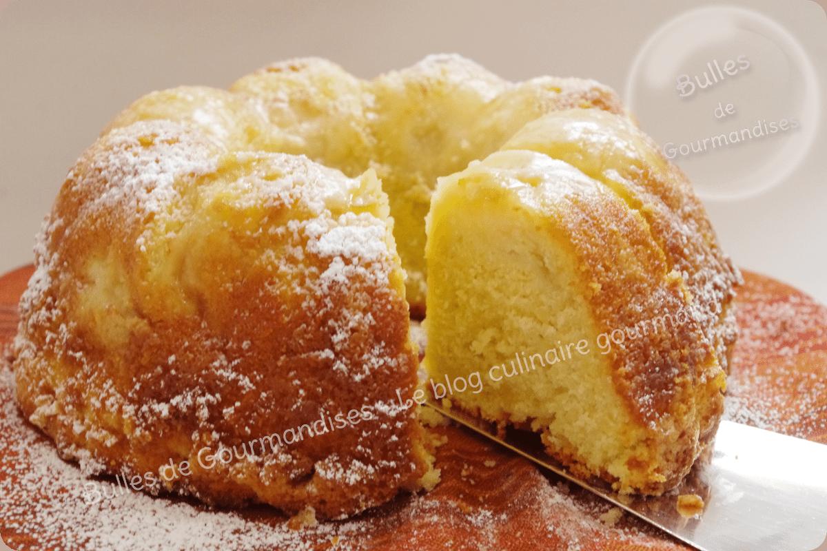 Bundt cake aux p ches la couronne gourmande bulles de gourmandises - Gateau avec beaucoup de lait ...